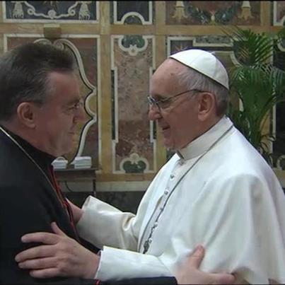 Кардинал загребачки Бозанић са новим папом Фрациском