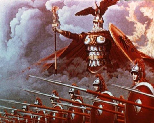 Vitezovi-Arkone-predvodjeni-Svetovidom-na-nebu-slika-Konstantina-Vasiljeva-iz-1969-670x534